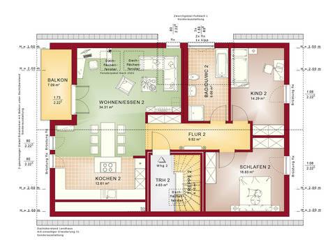 Haus SOLUTION 204 V4 Grundriss DG von Living Haus