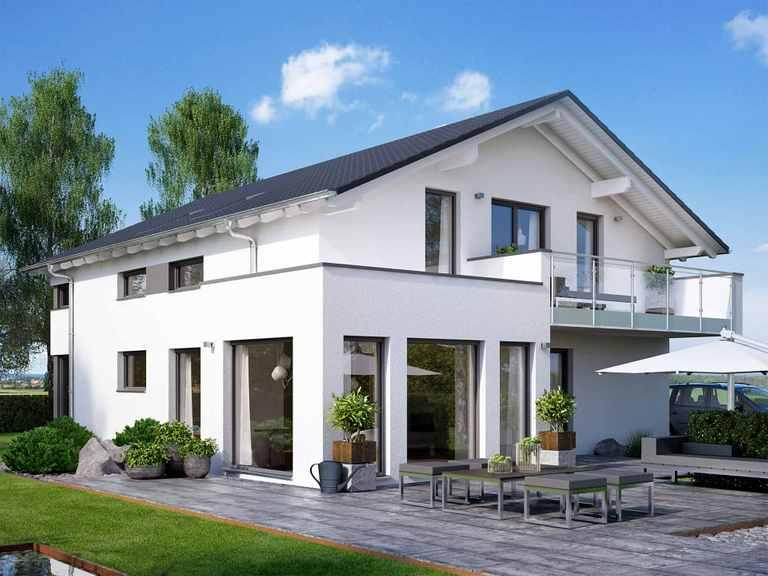 Zweifamilienhaus SOLUTION 204 V5 L - Living Haus