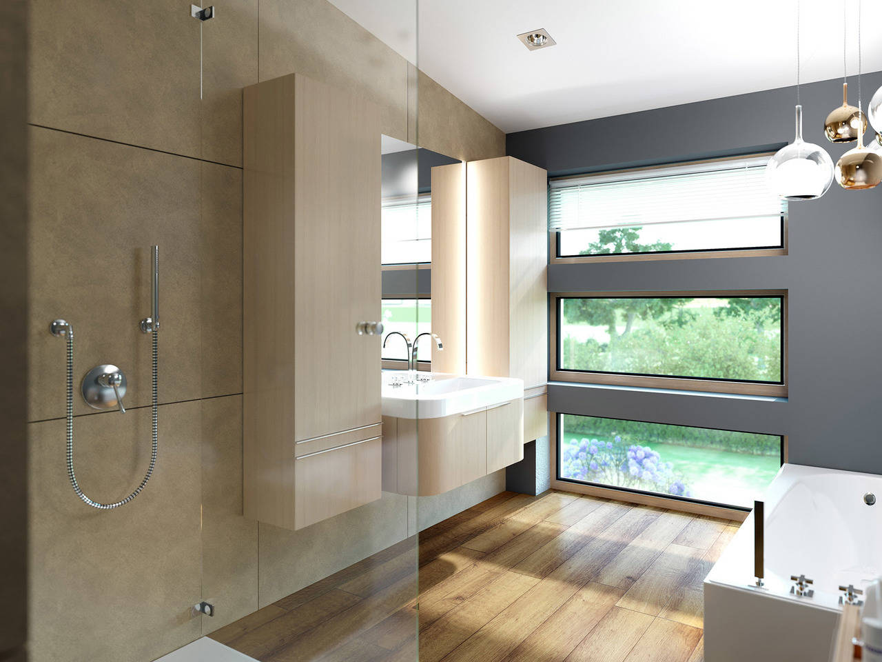 Haus SOLUTION 204 V7 Badezimmer von Living Haus