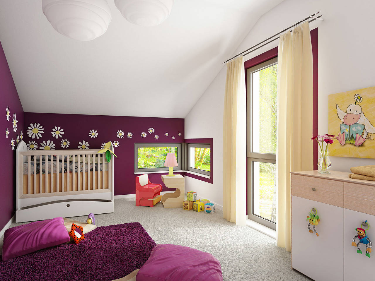 Haus SOLUTION 204 V7 Kinderzimmer von Living Haus