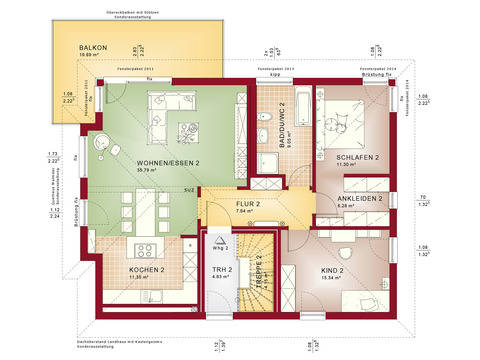 Haus SOLUTION 204 V8 Grundriss DG von Living Haus