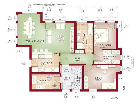 Haus SOLUTION 204 V10 Grundriss EG von Living Haus