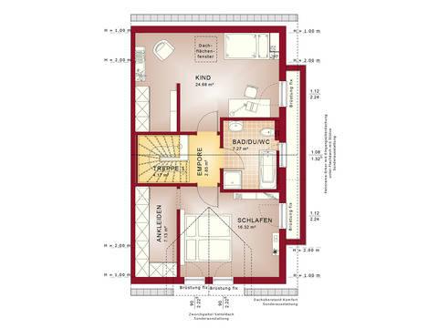 Haus SOLUTION 126 L V3 Grundriss DG von Living Haus
