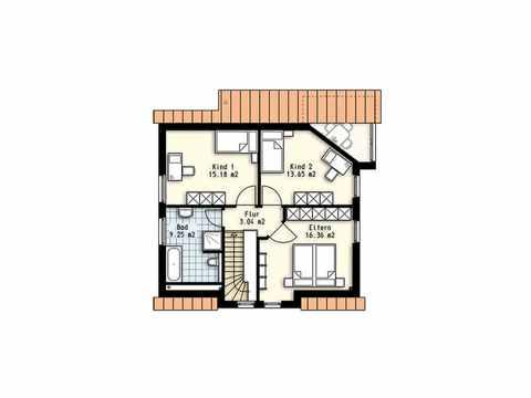 Haus Polaris 8 - OLFA-Haus GmbH Grundriss DG