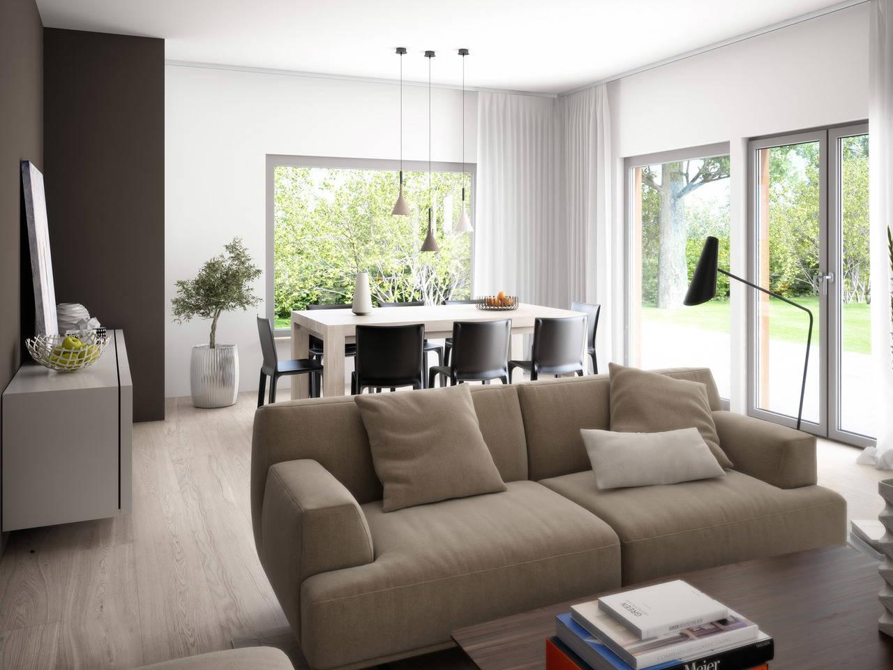 Haus SOLUTION 126 XL V6 Wohnzimmer von Living Haus