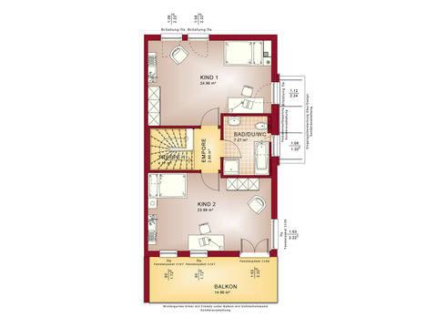 Haus SOLUTION 126 XL V6 Grundriss OG von Living Haus