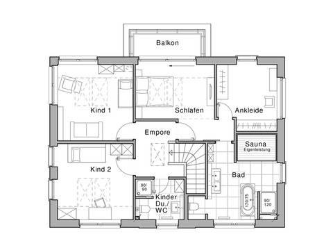 Edition 425 WOHNIDEE-Haus Grundriss DG von Viebrockhaus