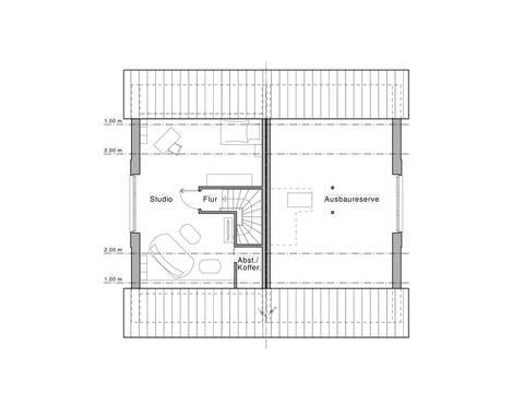Doppelhaus Maxime 1000 D Grundriss DG von Viebrockhaus