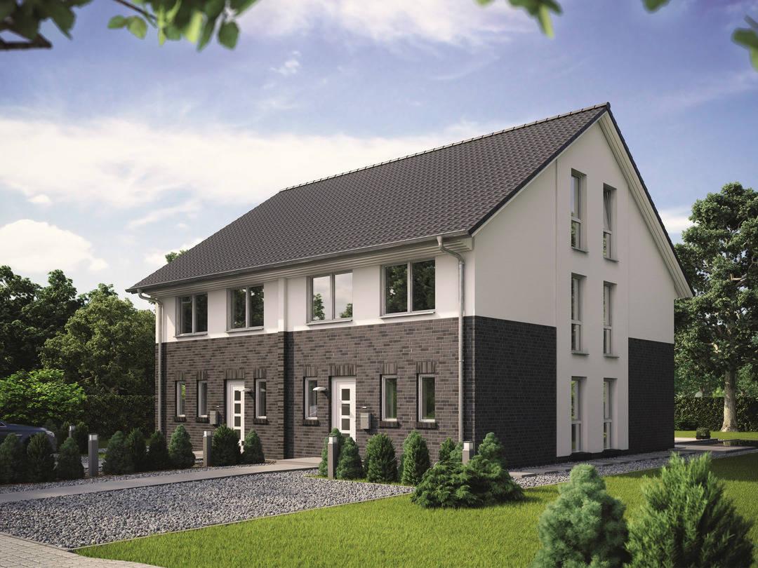 Doppelhaus maxime 1000 d viebrockhaus for Doppelhaus modern