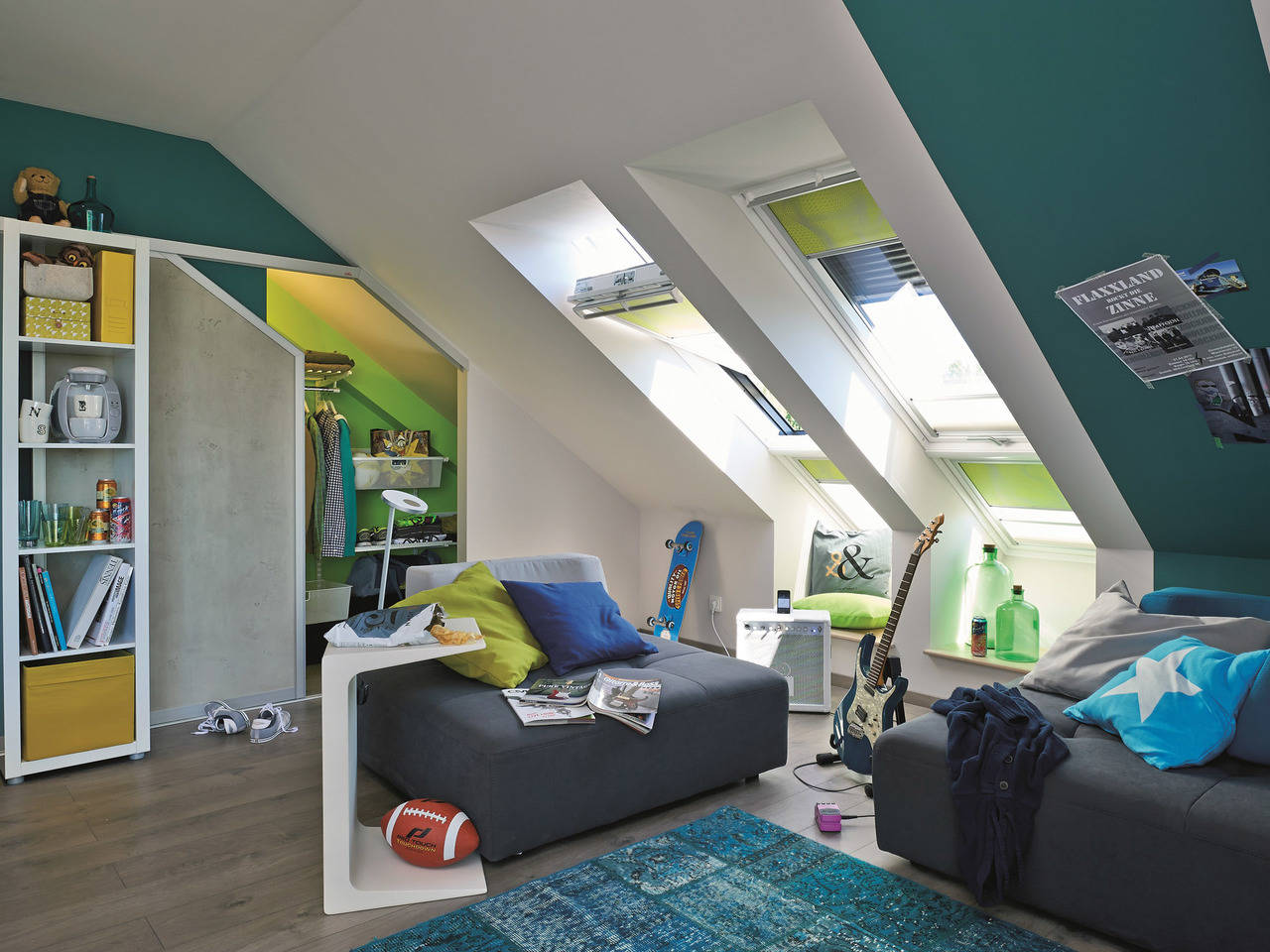 Doppelhaus Maxime 1000 D WOHNIDEE-Haus Kinderzimmer