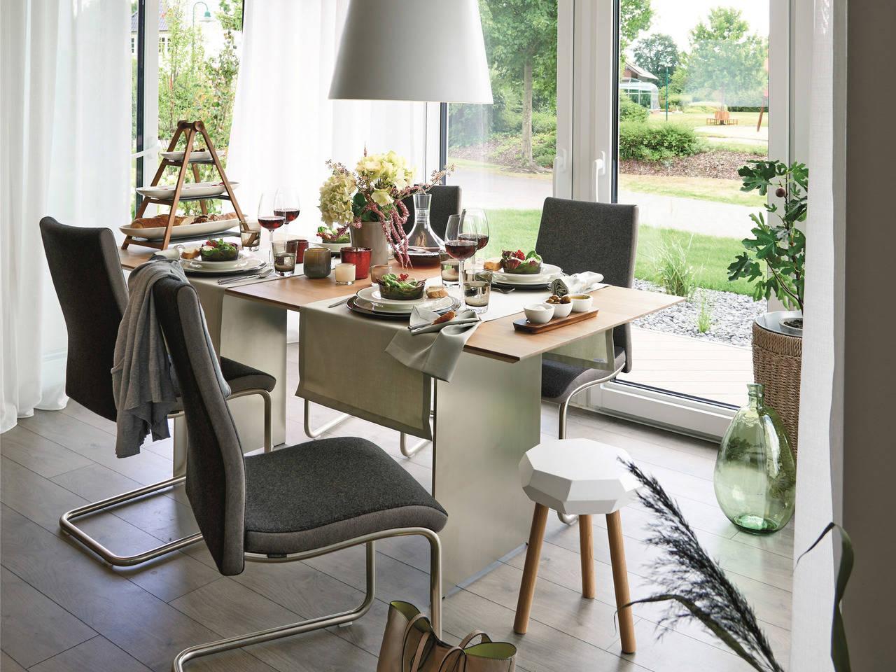 Doppelhaus Maxime 1000 D WOHNIDEE-Haus Wohnzimmer
