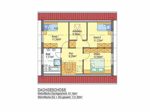 Haus Premiere - ideal-heim-bau Grundriss DG