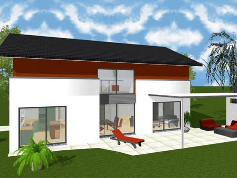 Aussenansicht Einfamilienhaus 165 von KMT-Massivhaus