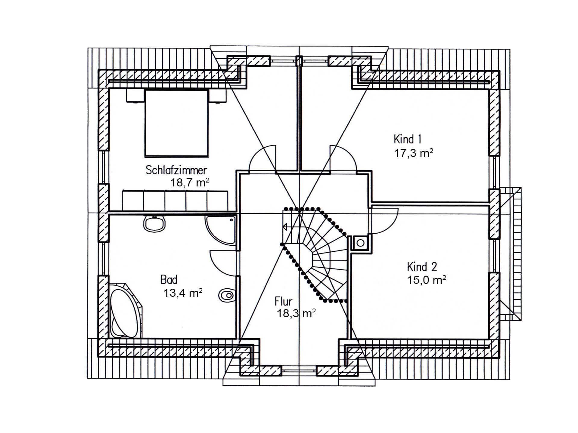 Einfamilienhaus birke 170 baufuchs massivhaus for Mustergrundrisse einfamilienhaus
