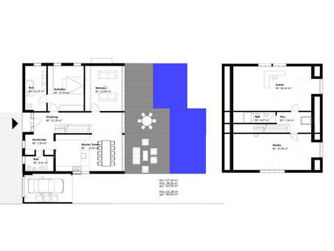 Grundrisse EG + OG Haus Waldblick von Becker 360