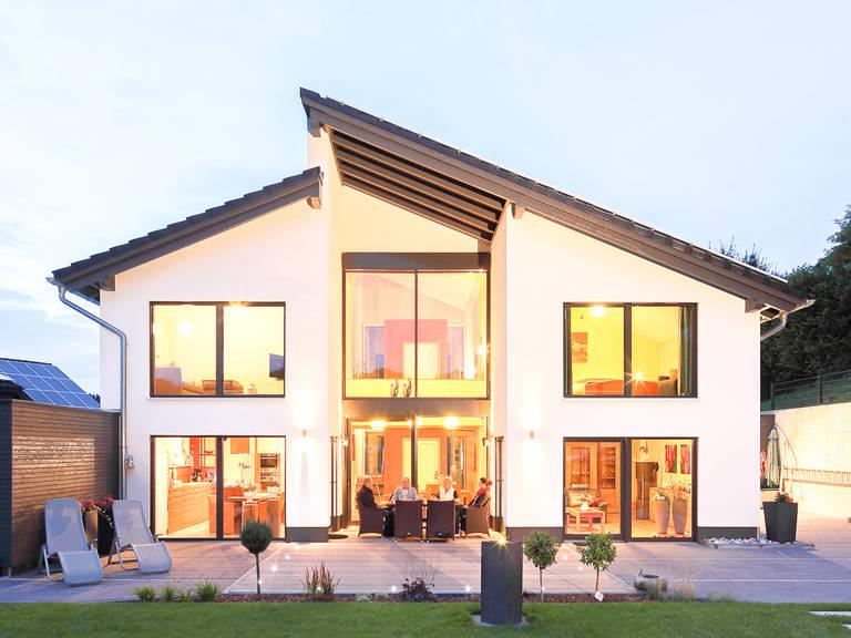 Aussenansicht Pultdachhaus Westfalen von Becker360