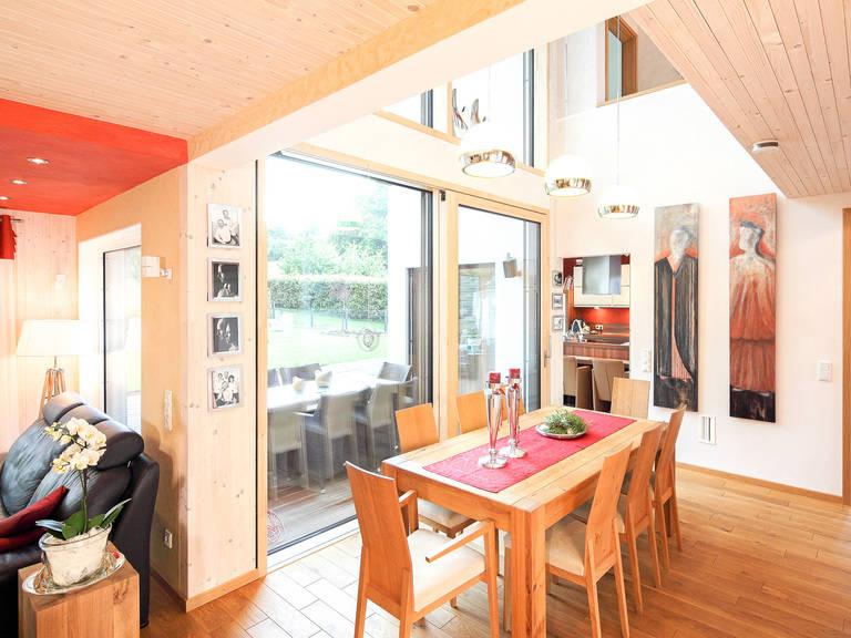 Wohnbereich Pultdachhaus Westfalen von Becker360