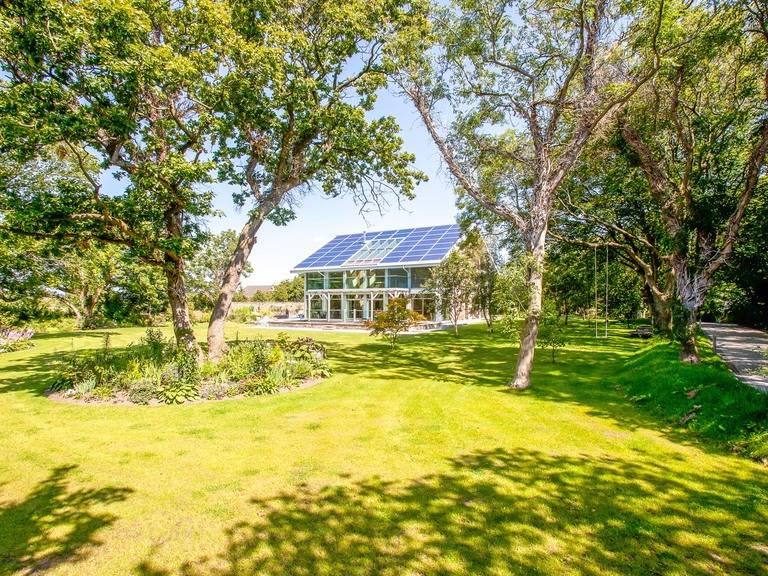 Aussenansicht Haus Isle of Man Gartenansicht von Holzbau Becker & Sohn