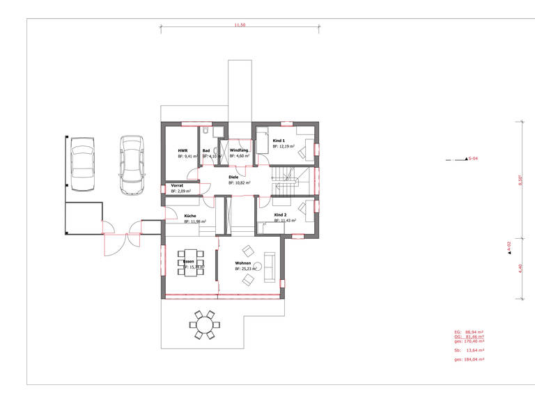 Haus Figgen Grundriss EG