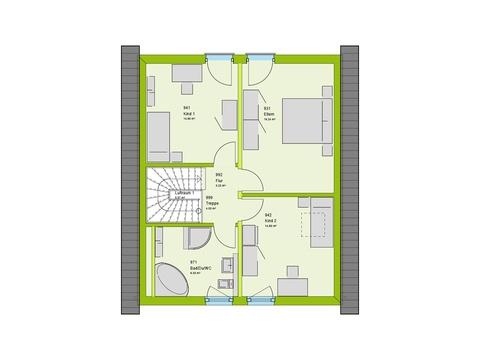 Massa Haus LifeStyle 1 Grundriss DG