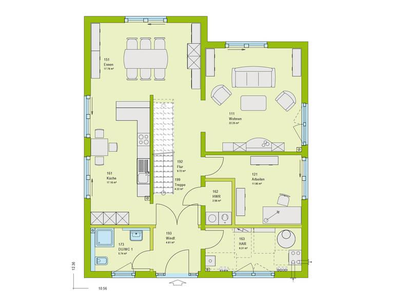Haus Unique 3 Grundriss EG von massa haus
