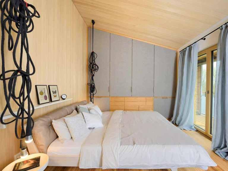 Musterhaus Alpenchic - Baufritz Schlafzimmer