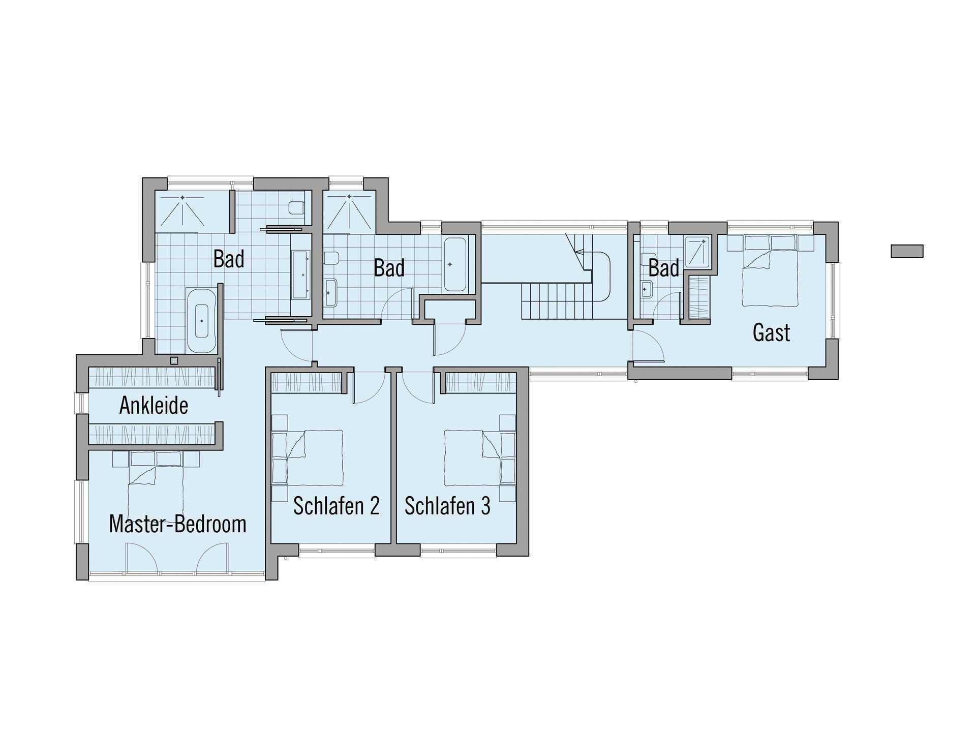 Grundriss Dachgeschoss Haus Crichton Baufritz