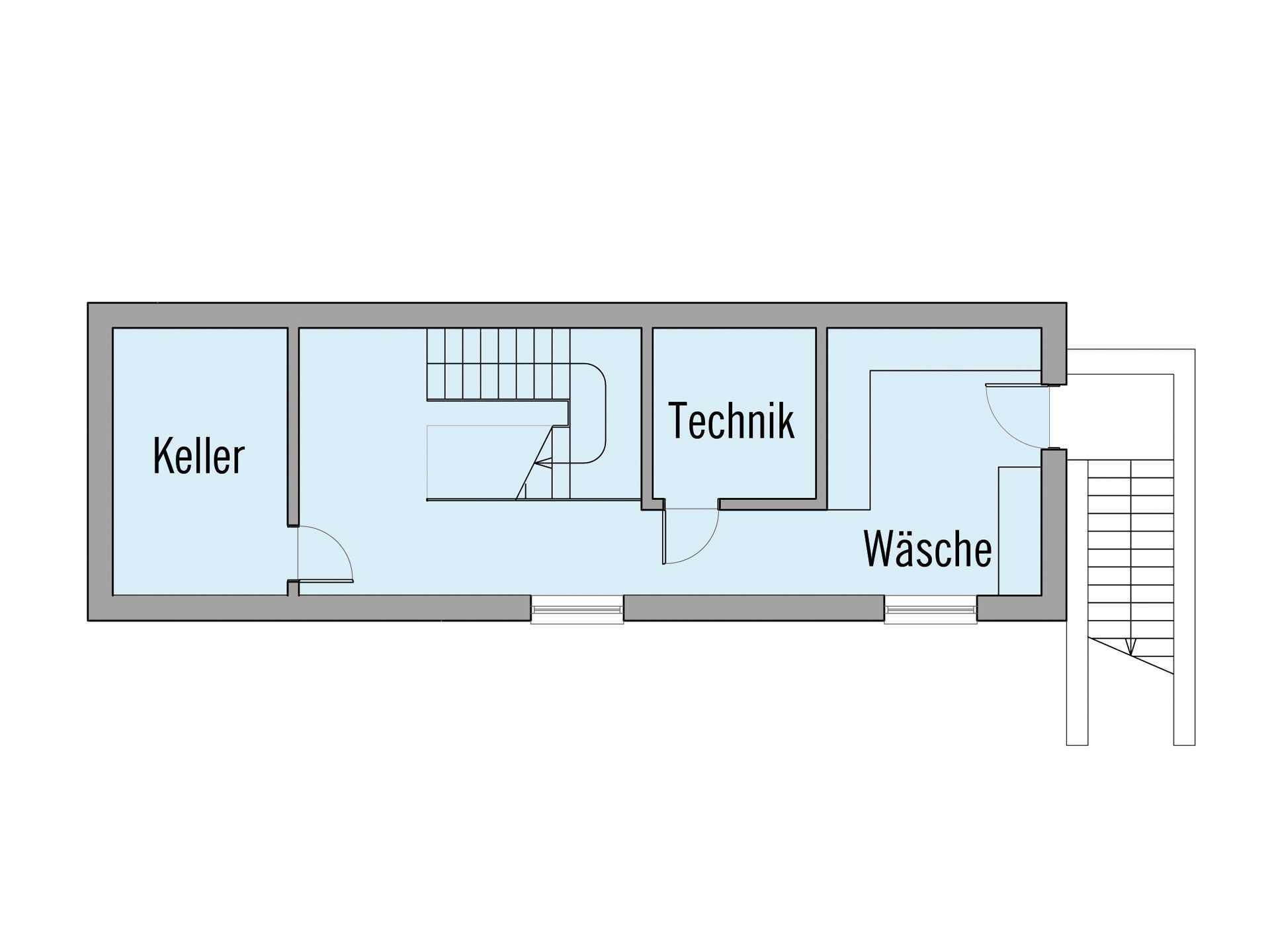 Grundriss Untergeschoss Haus Crichton Baufritz