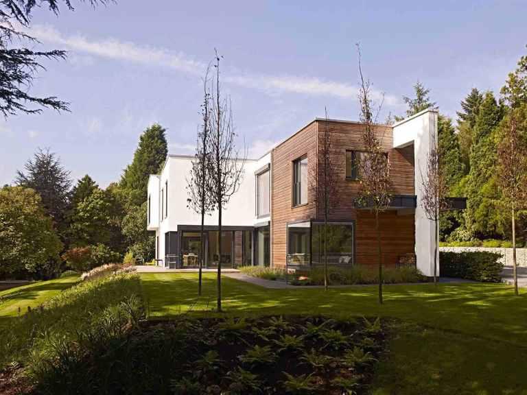 Kubus Haus Crichton - Baufritz Gartenansicht