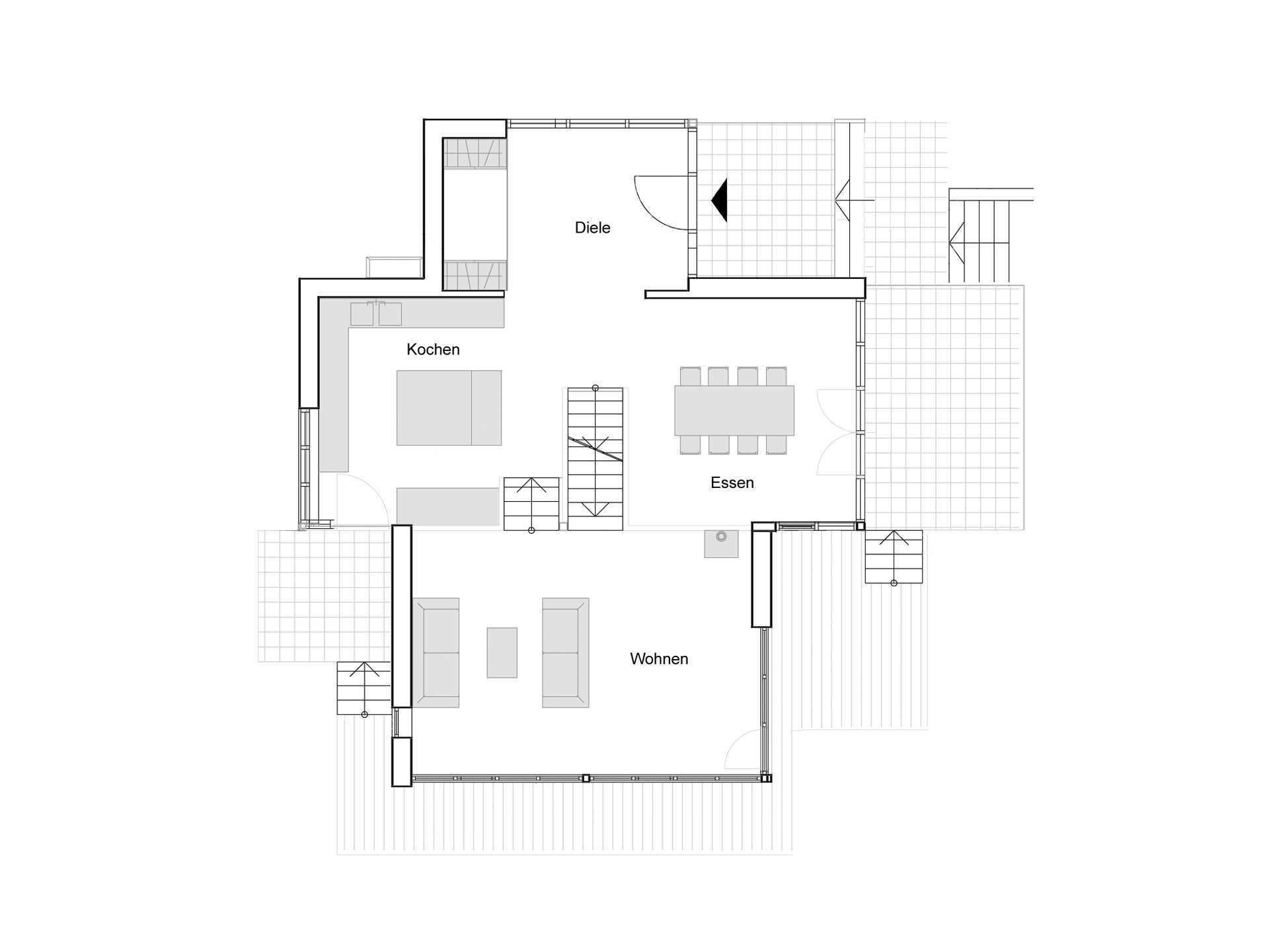 Grundriss Erdgeschoss Haus Eliasch Baufritz