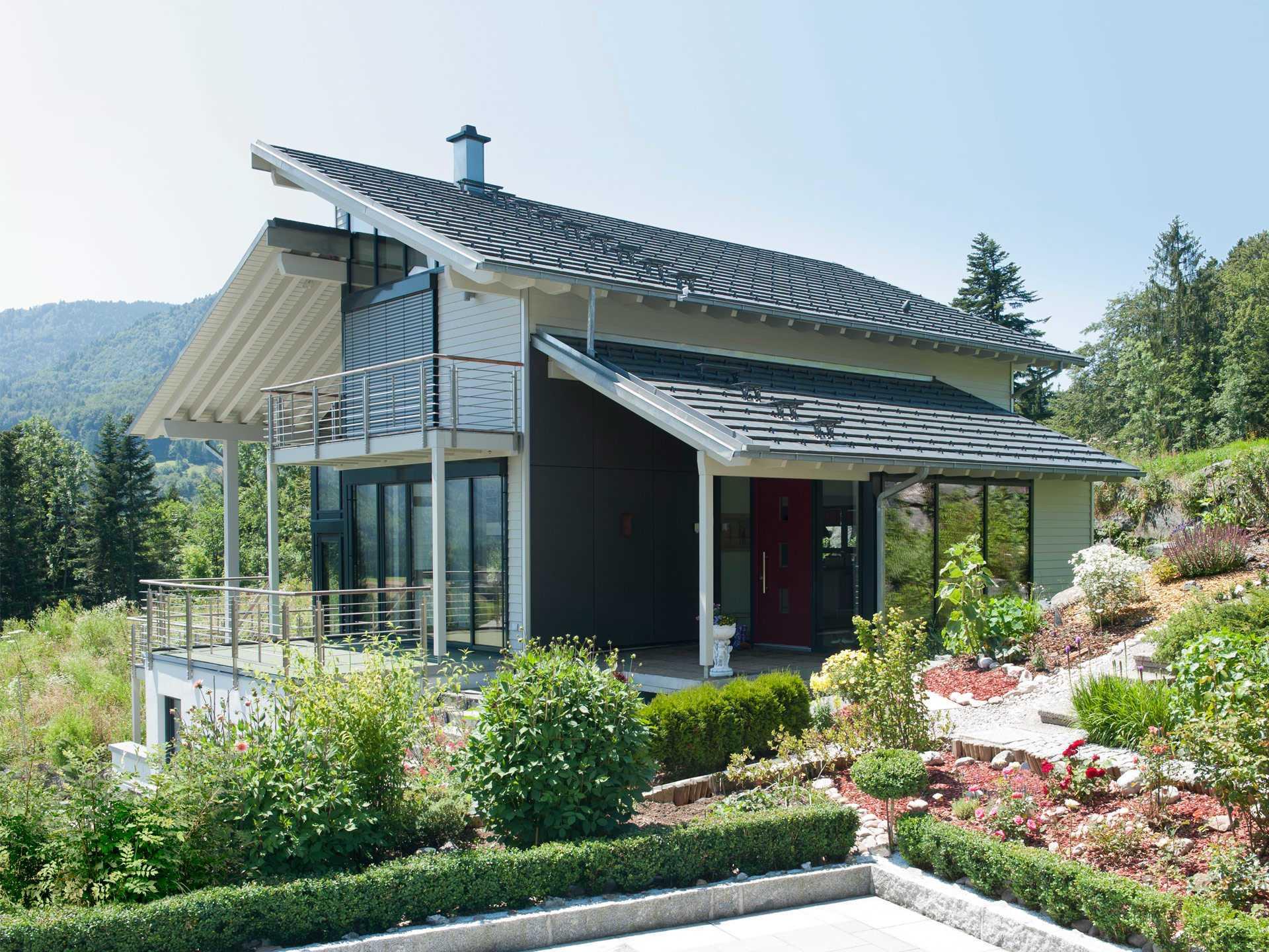 Haus eliasch baufritz for Moderne haus muster