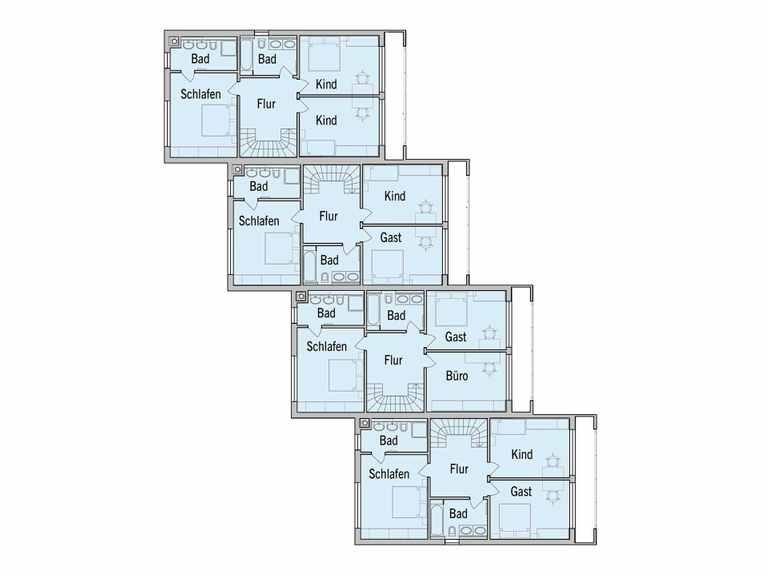 Grundriss Dachgeschoss Mehrfamilienhaus Gardet Baufritz