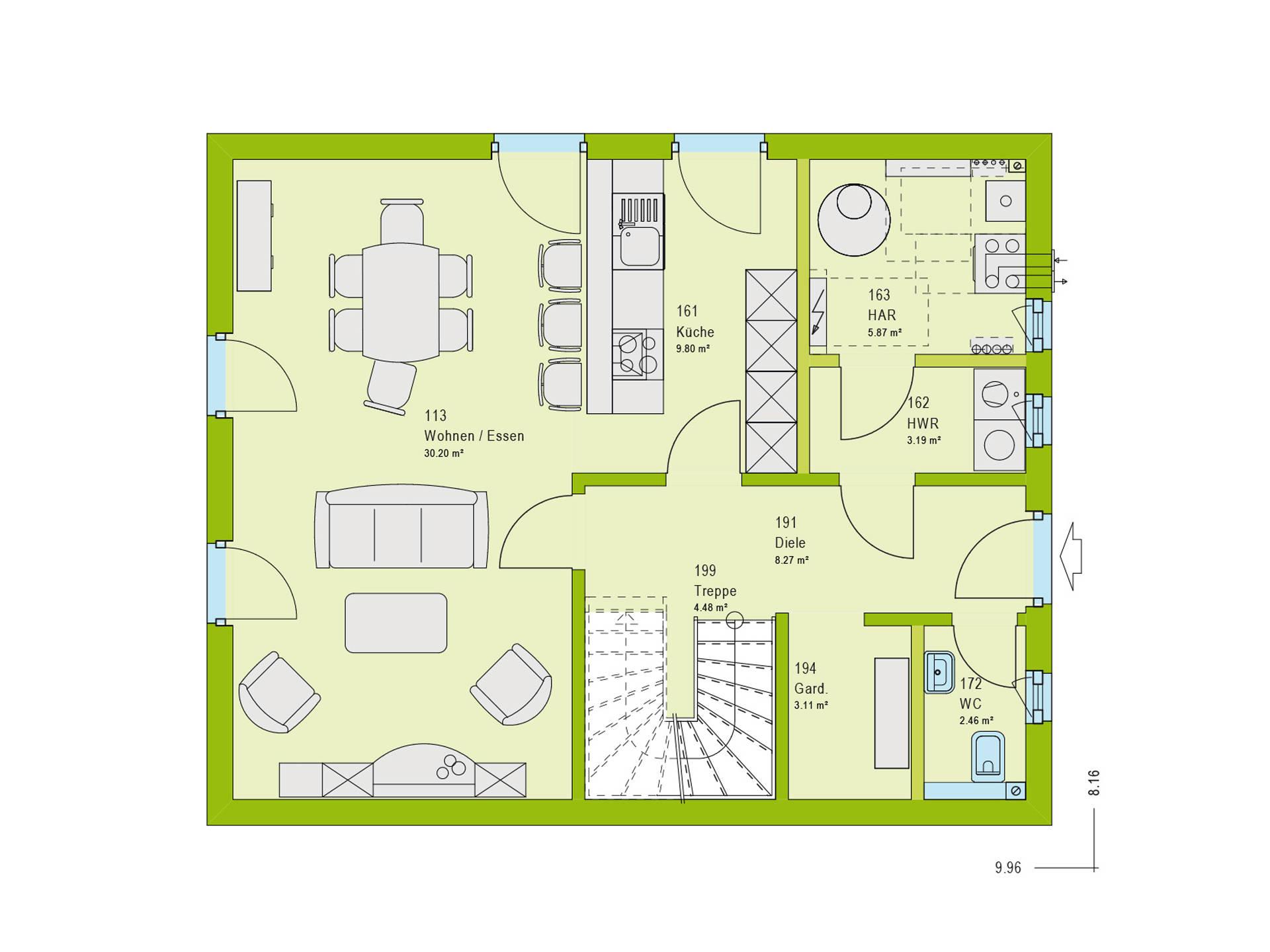 Haus Contur 2 V1 Grundriss EG von massa haus