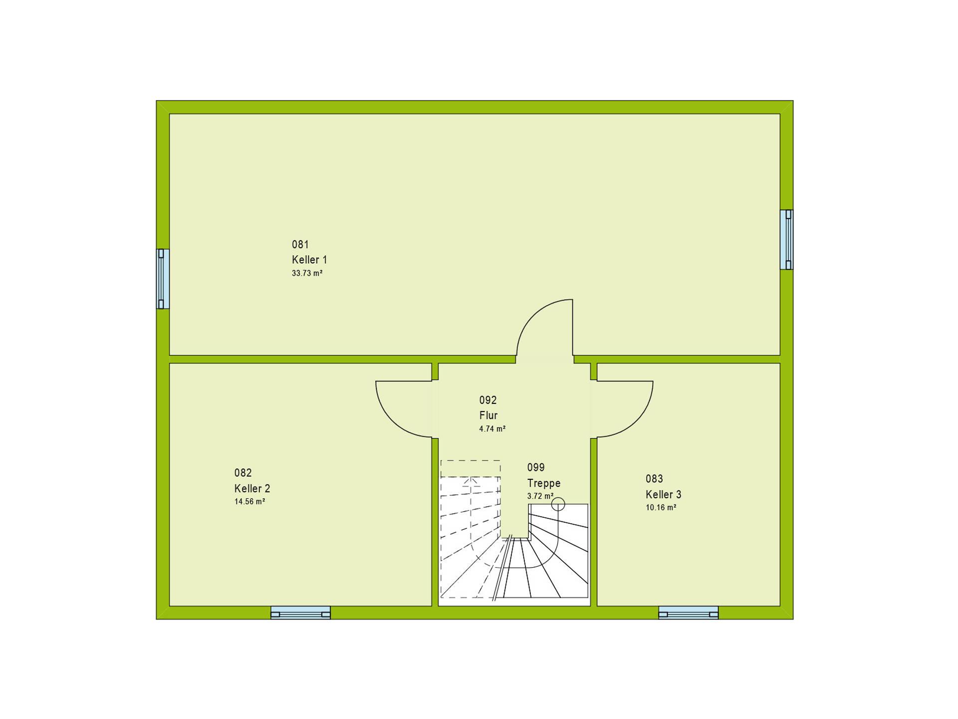 Haus Contur 2 V1 Grundriss KG von massa haus