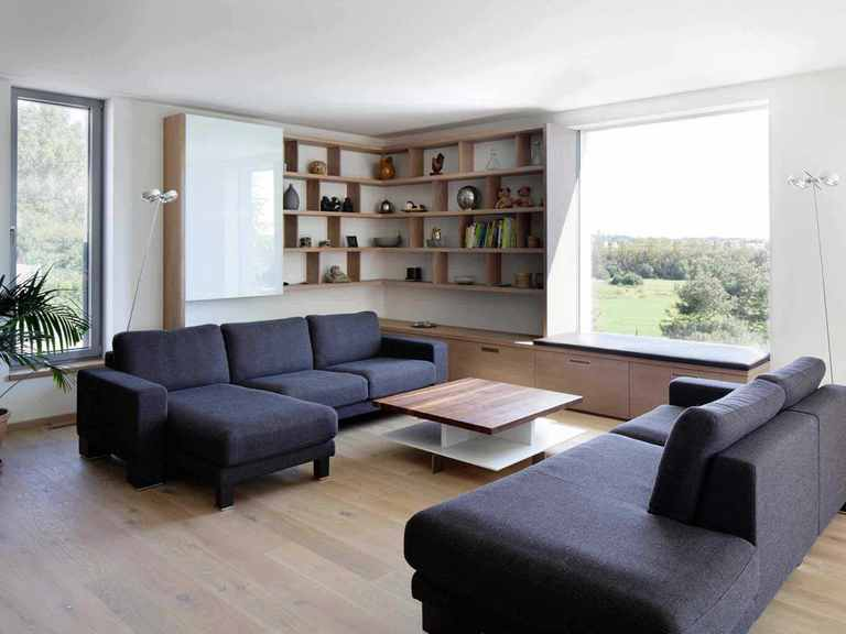 Passivhaus Kieffer - Baufritz Wohnzimmer