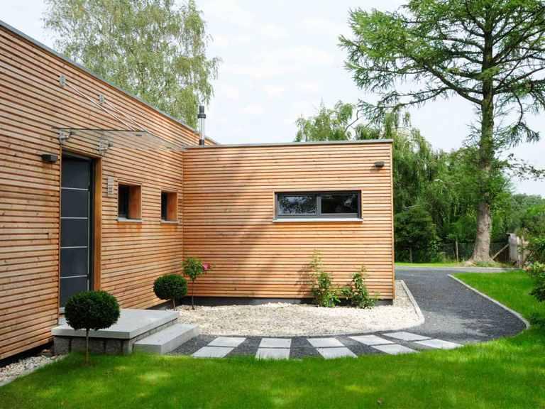 Moderner Bungalow - Baufritz Terrasse