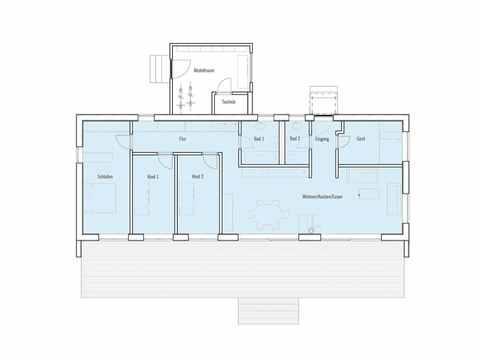 Grundriss Moderner Bungalow Baufritz