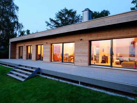 Terrasse Moderner Bungalow Baufritz