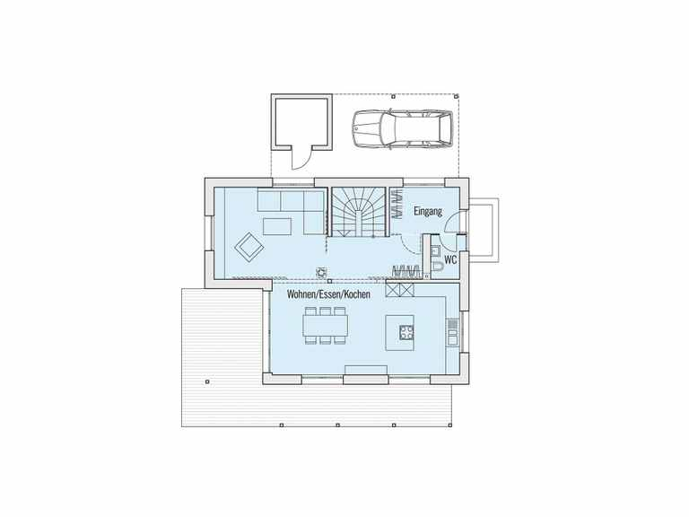 Grundriss Erdgeschoss Schwedenhaus Edition Rot Baufritz