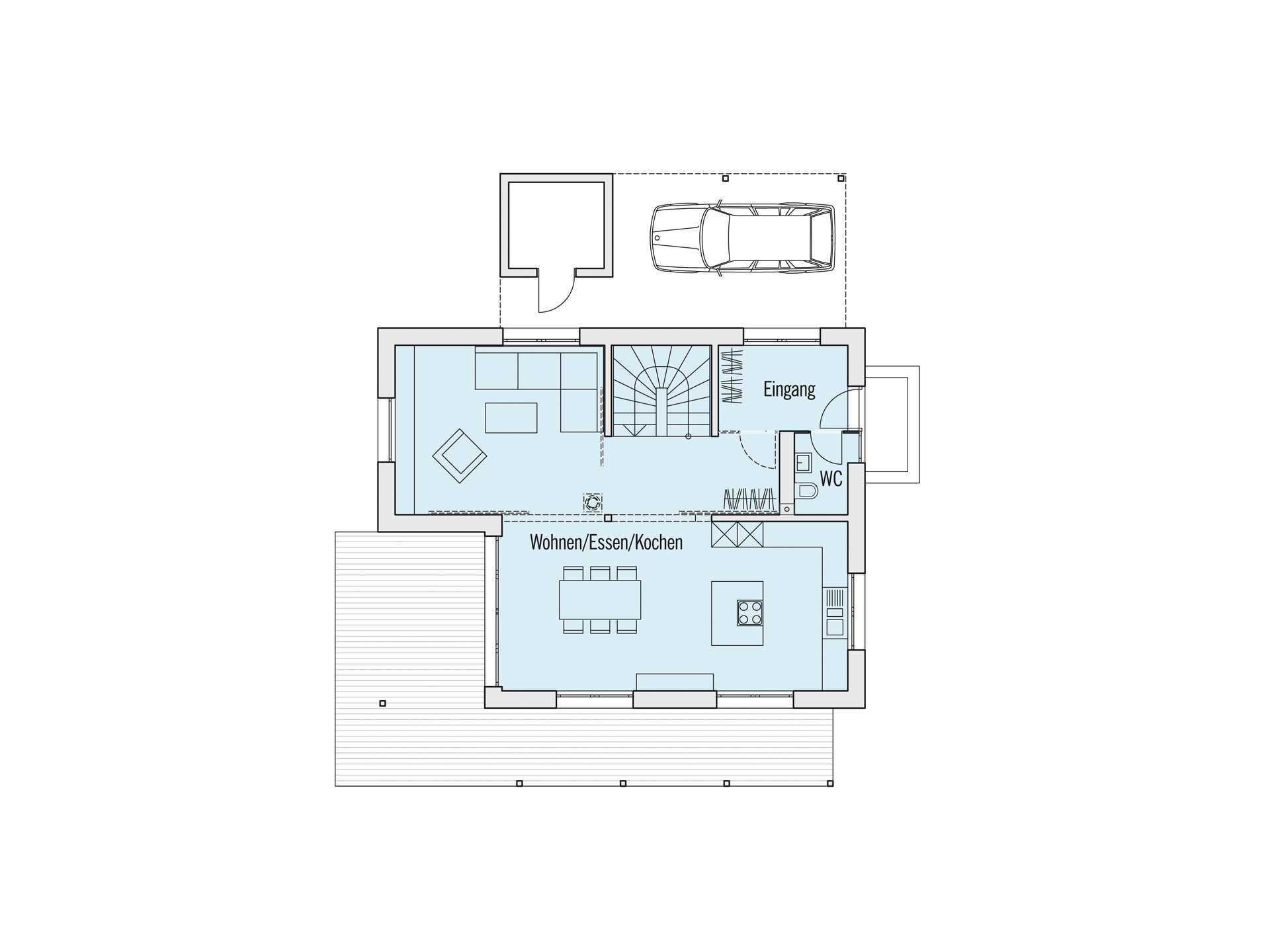 Grundriss Erdgeschoss Musterhaus Edition Rot Baufritz