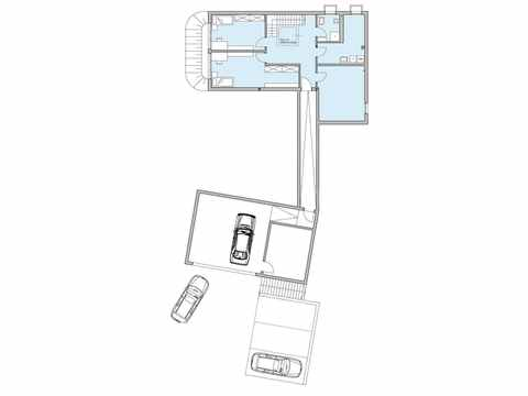 Grundriss Untergeschoss Stadtvilla Riederle Baufritz