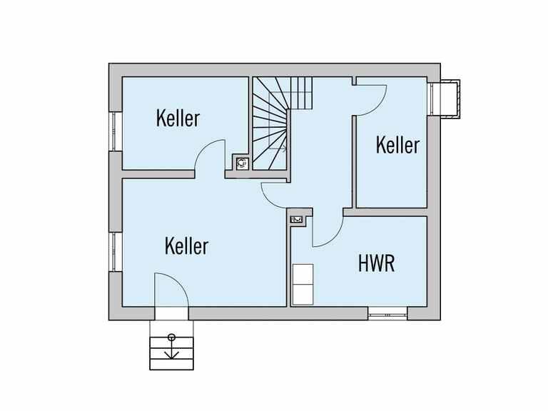 Grundriss Kellergeschoss Haus Rothermel Baufritz