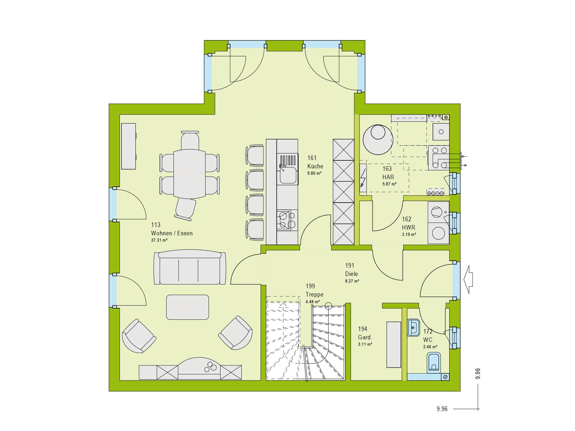 Haus Contur 2 V2 Grundriss EG von massa haus