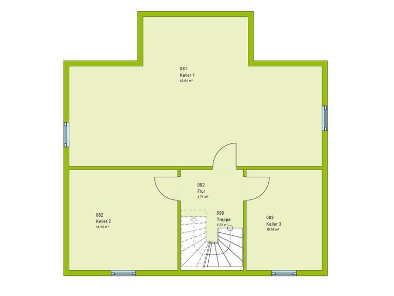 Haus Contur 2 V2 Grundriss KG von massa haus