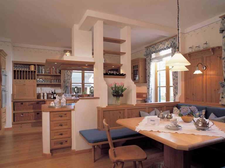 Traditionelle Landhausvilla - Baufritz Küche