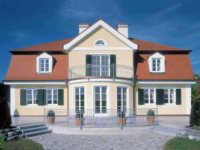 Traditionelle Landhausvilla Baufritz