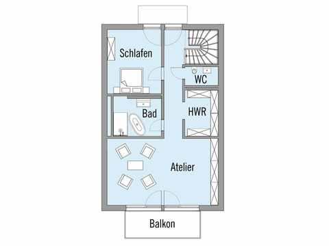 Grundriss Dachgeschoss Mehrfamilienhaus Erstling Baufritz
