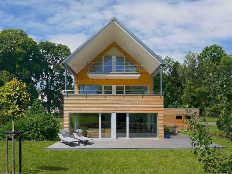 Mehrfamilienhaus Erstling - Baufritz Gartenansicht