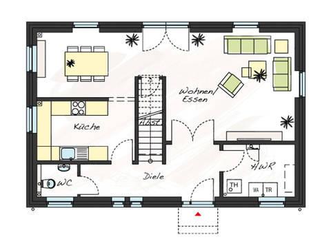 Grundriss Erdgeschoss Einfamilienhaus ProStyle 137 ProHaus