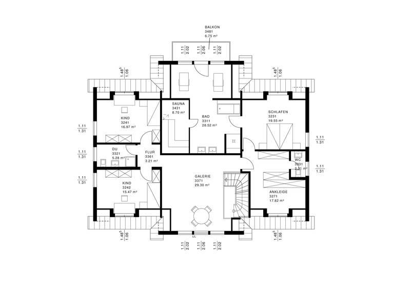 Landhaus Grundriss DG von Haacke Haus